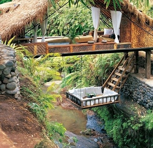 In this river resort in Bali