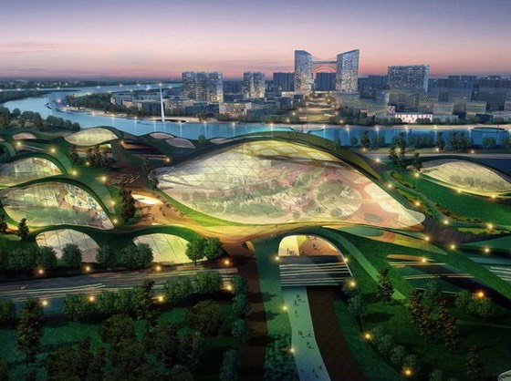 Tianjin eco city for 350000-residents in China